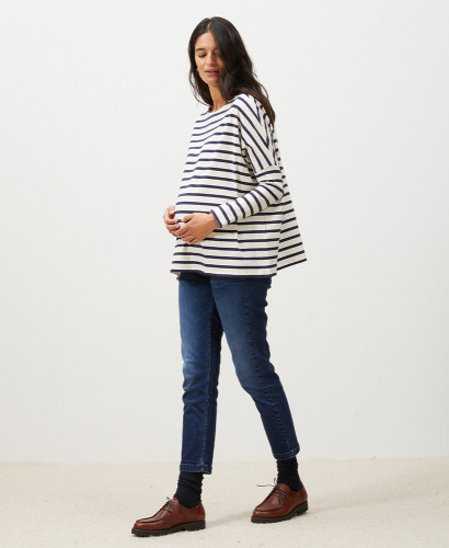 Straight Pregnancy Jeans Without Bump Cover | Evolutive Maternity Jeans