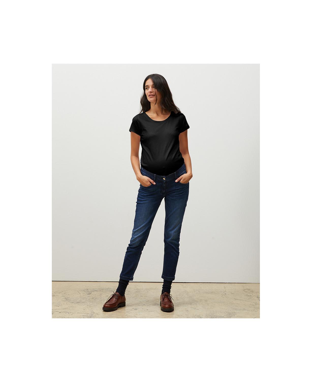 T-shirt Grossesse Coton Bio Noir l Basiques Maternité Ethiques