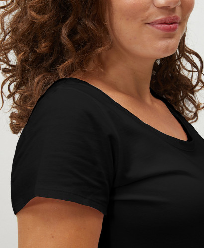 Black Organic Cotton Pregnancy T-shirt l Maternity Essentials