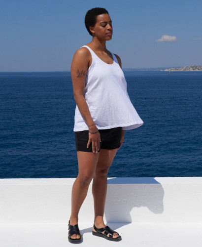 Luz Pregnancy Tank l Sustainable Eco-responsible Maternity Tank & Top