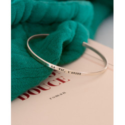 """Silver Bracelet """"La Vie, L'Amour"""""""