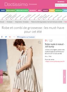 Article Doctissimo : Robe et combi de grossesse : les must-have pour cet été