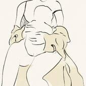 MOTHERHOOD — L'amour, la vie ♥️ — Illustration @rowansterenberg — #nouveauchapitre #nouveaucorps #nouveauvestiaire #mumlife #grossesse #motherlove #maternité #postpartum #motherhood #modeethique #modedurable #jolibump